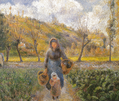 Peasant Woman and Child Returning from the Fields, Auvers-sur-Oise