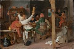 Peasants Carousing in a Tavern