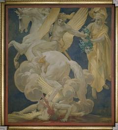 Perseus on Pegasus Slaying Medusa