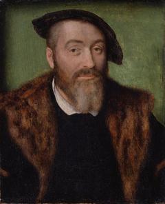 Portrait d'homme à barbe grisonnante
