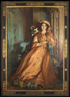 Portrait de Mabel Dodge à la Villa Curonia