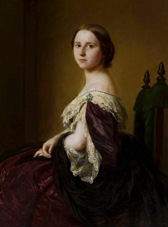 Portrait of a lady in a purple dress