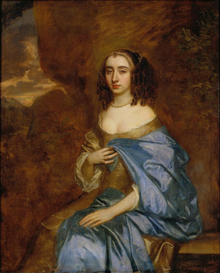 Portrait of a Lady with a Blue Drape