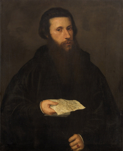 Portrait of a Man with a Letter