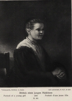 Portrait of a Young Girl (seated, in profile facing right)