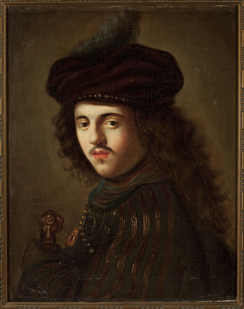 Portrait of a young man in a beret