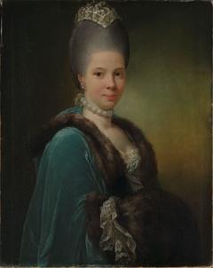 Portrait of Bodilla Birgitte von Munthe af Morgenstierne, b. de Flindt