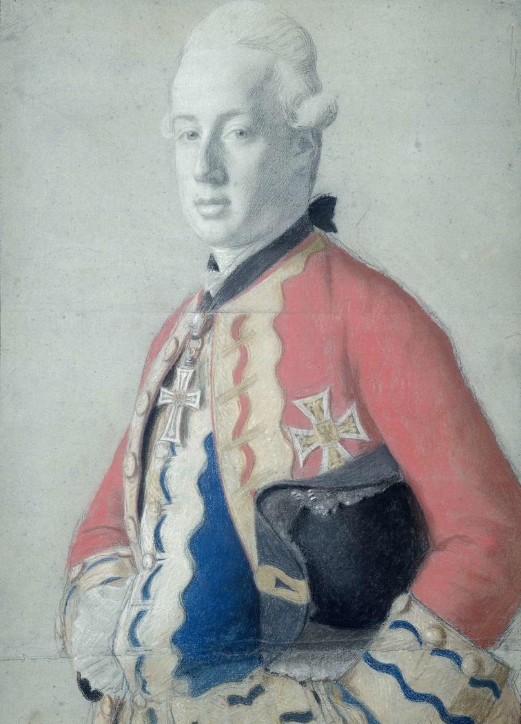 Portret van aartshertog Maximiliaan Franz van Oostenrijk (1756-1801), later aartsbisschop en keurvorst van Keulen en prins bisschop van Münster