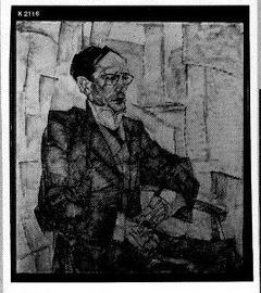 Portret van de dichter J. Rensburg