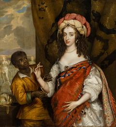 Posthumous Portrait of Mary I Stuart (1631- 1660) with a Servant