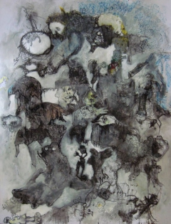 "Saatchi Art Artist: Evangelos Papapostolou; Acrylic 2015 Painting """"when i grow up...i will be"""""