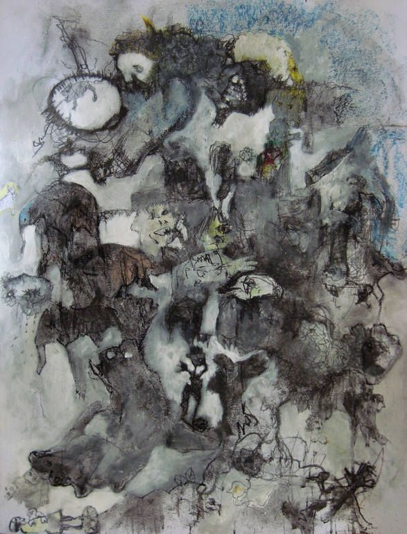 """Saatchi Art Artist: Evangelos Papapostolou; Acrylic 2015 Painting """"""""when i grow up...i will be"""""""""""