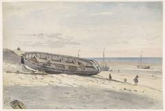 Schuiten op het strand