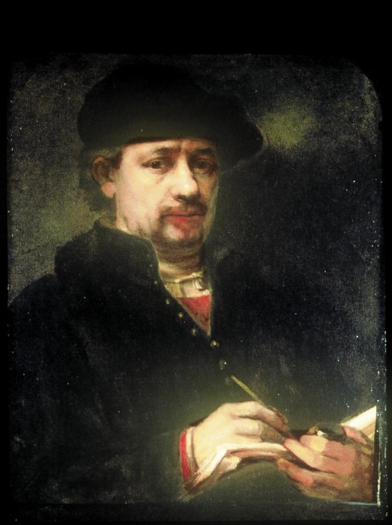 (Self-)Portrait of Rembrandt with a sketchbook