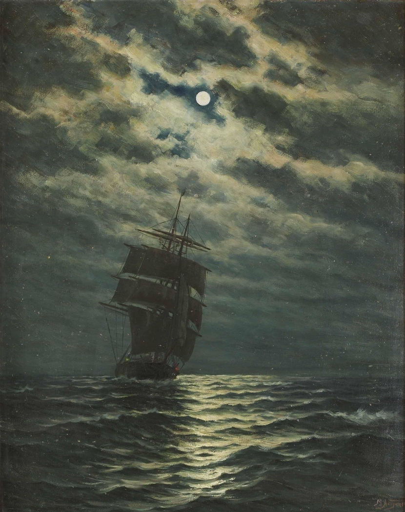 Ship in the Moonlight
