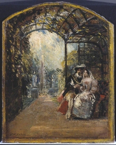 "Sketch for 'The Duke and Duchess Reading ""Don Quixote""'"