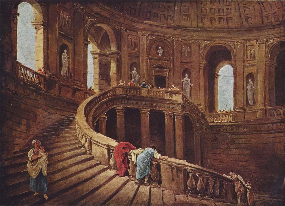 Staircase in the Villa Farnese at Caprarola