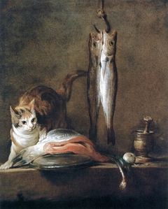 Still Life With Cat and Fish