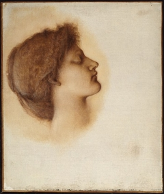 """Study for """"The Sleeping Beauty"""": Head of a Maiden"""