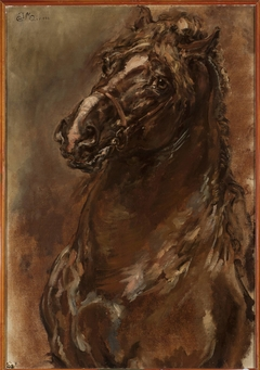 """Study of horse's head for """"The Maid of Orléans"""""""