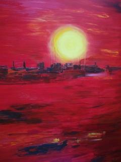 Ηλιοβασίλεμα στο κόκκινο / Sunset in red