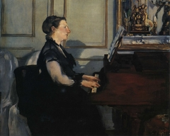 Suzanne Manet Playing the Piano