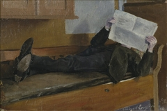 The Artist's Father, Reading a Newspaper