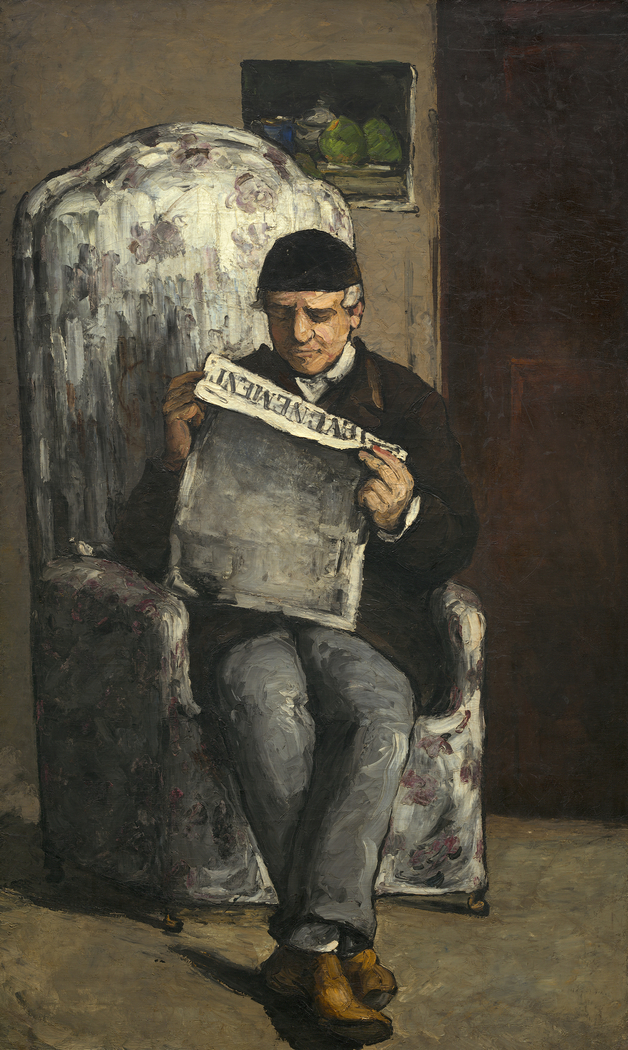 """The Artist's Father, Reading """"L'Événement"""""""