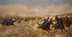The Cossacks case of Platov near Mir on July 9, 1812
