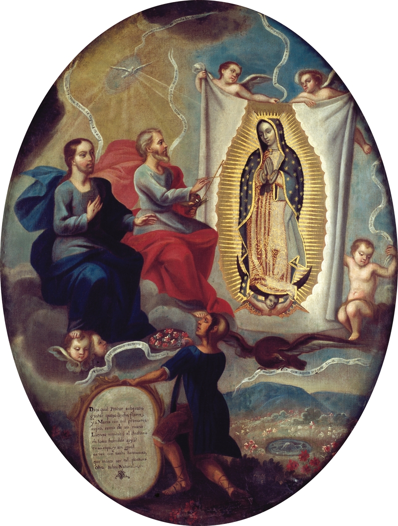 The Eternal Father Painting the Virgin of Guadalupe
