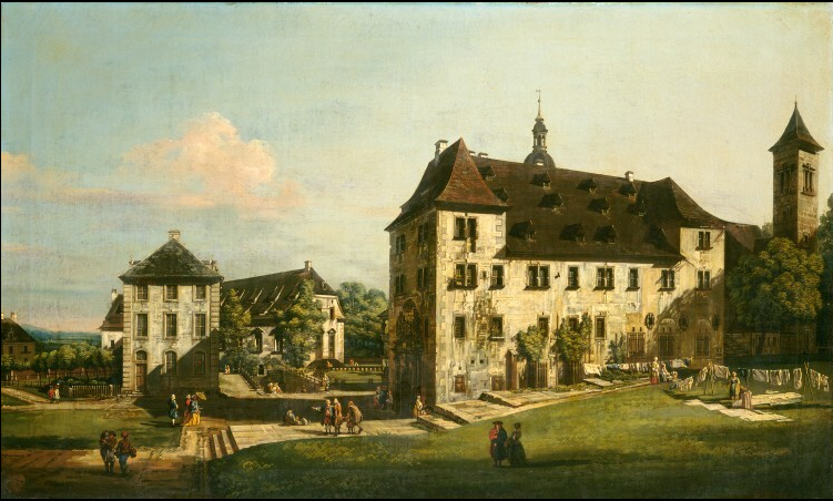 The Fortress of Königstein: Courtyard with the Magdalenenburg