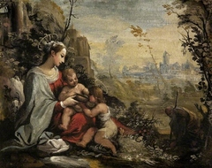 The Holy Family on the Flight meets the infant St John
