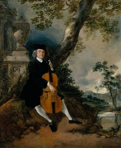 The Rev. John Chafy Playing the Violoncello in a Landscape