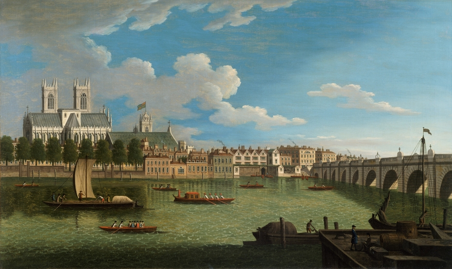 The Thames at Westminster Abbey
