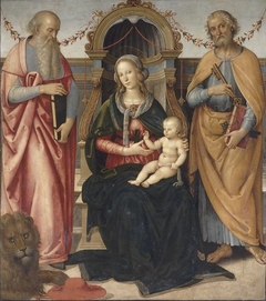 The Virgin Enthroned with the Child between Saint Jerome and Saint Peter
