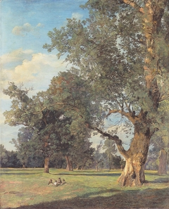 Trees in the Prater with seated figures