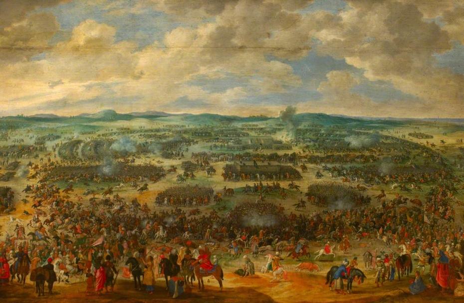 Turk and Christian Battle Scene