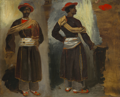Two Studies of a Standing Indian from Calcutta