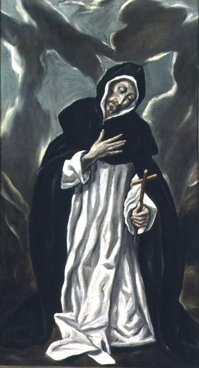 Saint Dominic praying