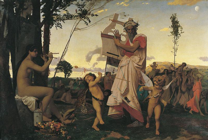 Anacréon, Bacchus et l'Amour