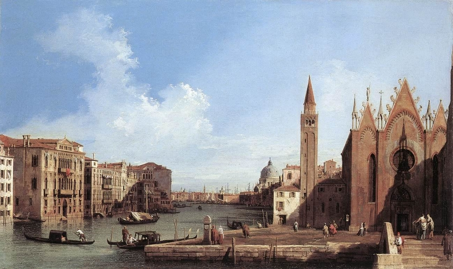 Venice: The Grand Canal from the Carità towards the Bacino