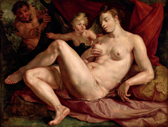 Venus and Cupid Spied on by a Satyr