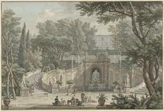 View of the Garden of Villa d'Este in Tivoli