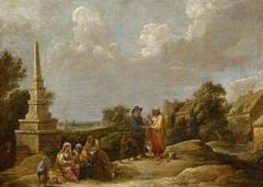 Village Landscape with an Obelisk