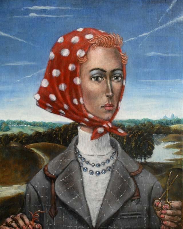 Vivienne with scissors