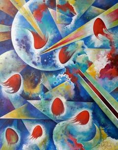 Where stars are born, pulsar Painting