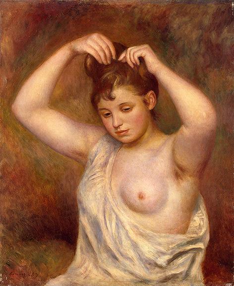 Woman Arranging her Hair