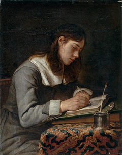 Young Man Writing