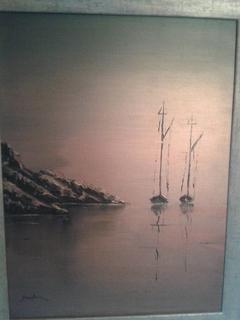 2 Sailboats in calm sea