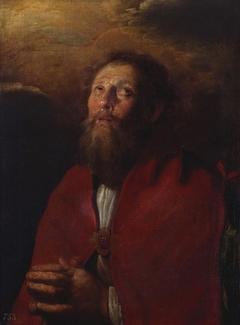 A Bearded Saint Praying
